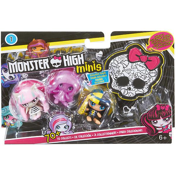3 Мини фигурки, Monster High
