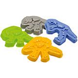 Формочки для песка Dinosaurs, Happy Baby