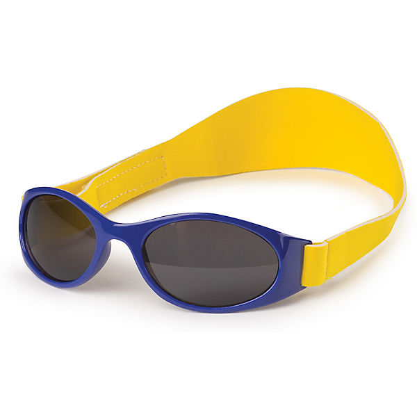 Очки солнцезащитные с ремешком, Happy Baby, синий