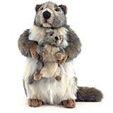 """Мягкая игрушка Hansa """"Сурок с детенышем"""", 35 см"""