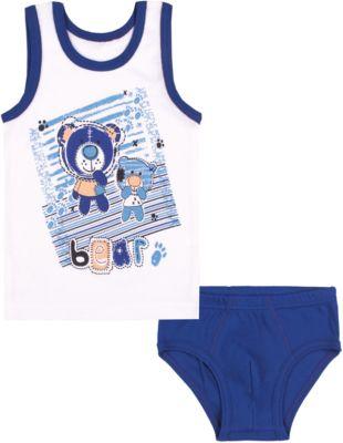 Комплект: майка и трусы для мальчика Апрель - голубой
