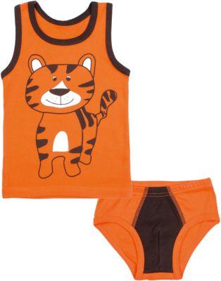 Комплект: майка и трусы для мальчика Апрель - оранжевый