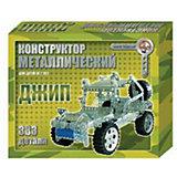 """Металлический конструктор """"Джип"""", 383 детали, Десятое королевство"""