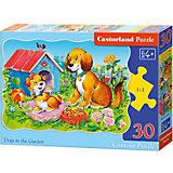 """Пазл Castorland """"Собаки в саду"""", 30 деталей"""