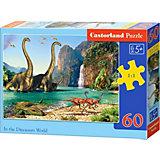 """Пазл """"Динозавры"""", 60 деталей, Castorland"""