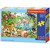"""Пазл """"Животные в джунглях """", 120 деталей, Castorland"""