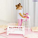 Набор кукольной мебели Стул+люлька, белый, PAREMO