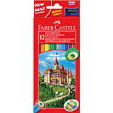 Faber-Castell Карандаши цветные Eco Замок с точилкой, 12 цветов