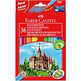 Faber-Castell Карандаши цветные Eco Замок с точилкой, 36 цветов