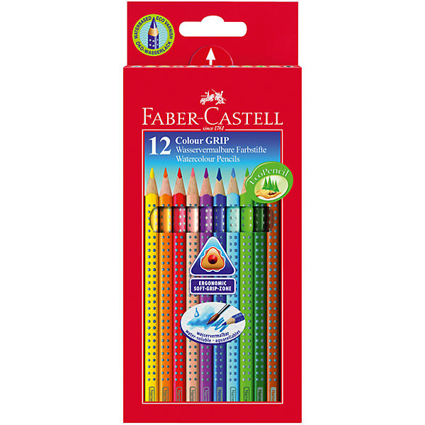 Faber-Castell Карандаши цветные Grip 2001, 12 цветов