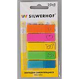Silwerhof Закладки самоклеящиеся пластиковые IMAGE, 5 цветов
