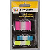 Silwerhof Закладки самоклеящиеся пластиковые, 3 цвета.