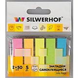 Silwerhof Закладки самоклеящиеся бумажные, 5 цветов