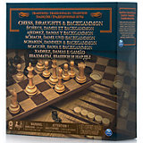 "Набор 3-в-1 ""Шахматы, шашки, нарды"", Spin Master"