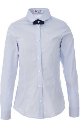 Блузка для девочки BUTTON BLUE - голубой в полоску