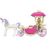 Игровой набор Barbie Конфетная карета и кукла