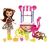 Кукла Enchantimals Мерит Мартыша с тележкой для фруктов