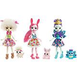 Набор из трех кукол со зверюшками Enchantimals,15см