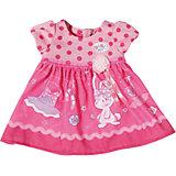 Платье для куклы, BABY born, темно-розовое