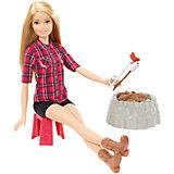 Кукла у костра Barbie Блондинка