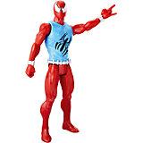 """Фигурка Hasbro """"Титаны"""" Паутинные бойцы, Алый паук, 30.5 см"""