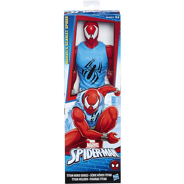 Фигурка Hasbro Титаны Паутинные бойцы, Алый паук, 30.5 см
