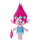 """Мягкая игрушка """"Тролли"""" - Говорящая Поппи, звук, 35.5 см"""