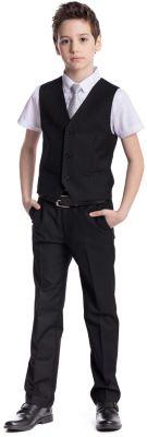 Комплект для мальчика: брюки, жилет S'cool - черный