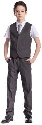 Комплект для мальчика: брюки, жилет S'cool - серый