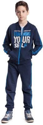 Комплект для мальчика: толстовка, брюки S'cool - синий