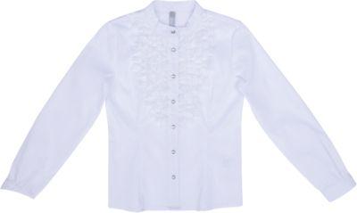 Блузка текстильная для девочки S'cool - белый