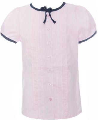 Блузка текстильная для девочки S'cool - светло-розовый