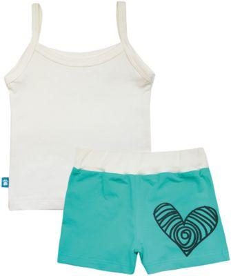 Пижама: майка и шорты для девочки KotMarKot - белый