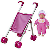"""Кукла """"Tiny Baby"""" с коляской, Loko Toys"""