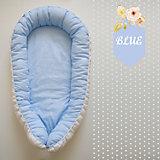 Гнездышко для малыша ,by Twinz, голубые горошинки