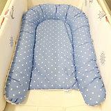 Гнездышко для малыша by Twinz, синий горошек