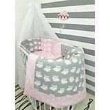 """Постельное белье для круглых кроваток """"Совы"""", 7 предм., by Twinz, розовый"""