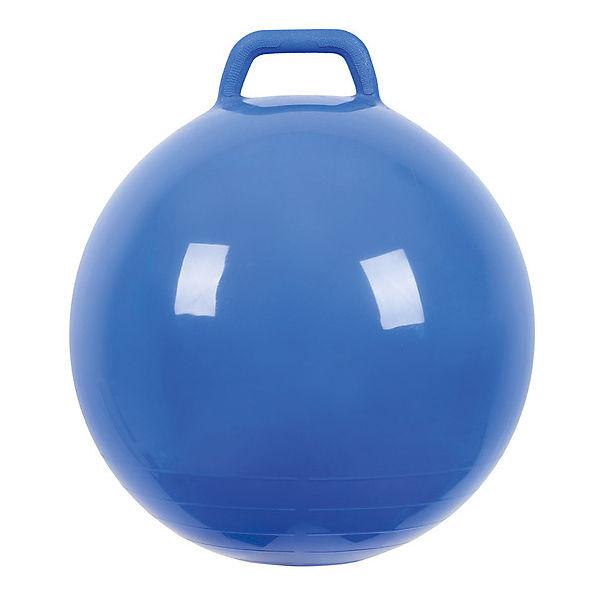 """Мяч Прыгун с ручкой, 50 см, синий, """"МалышОК"""""""