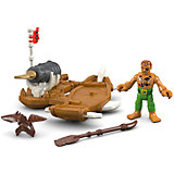 Базовая фигурка пирата Captain Kid & Surf Board, Imaginext, Fisher Price