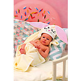 Полотенце с капюшоном Зайки Fun Dry, Twinklbaby, бежево-розовый