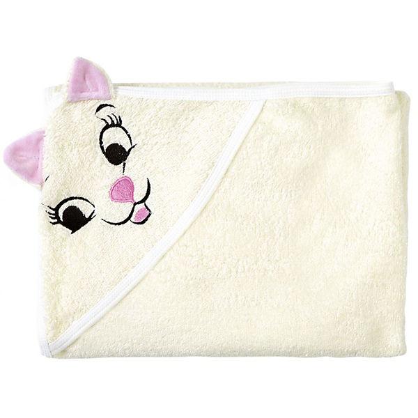Полотенце с капюшоном Кошки Fun Dry, Twinklbaby, светло-бежевый с розовыми ушками