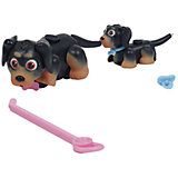 Игровой набор Семья черно-коричневых собак, Pet Club Parade