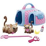 Двойная переноска с семьей кошечек, Pet Club Parade