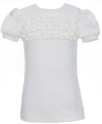 Блузка для девочки Белый снег - белый