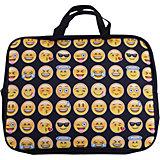 """Centrum Папка -сумка """"Смайлы"""", текстиль, c ручками, формат А4"""