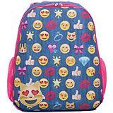 Рюкзак школьный каркасный Смайлы