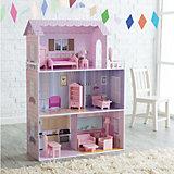 Кукольный домик из дерева с мебелью «Волшебная сказка», Kids4Kids
