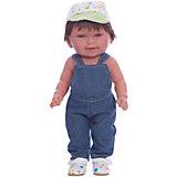 Кукла Мико в джинсовом комбинезоне, умеет стоять, серия soft touch, Vestida de Azul