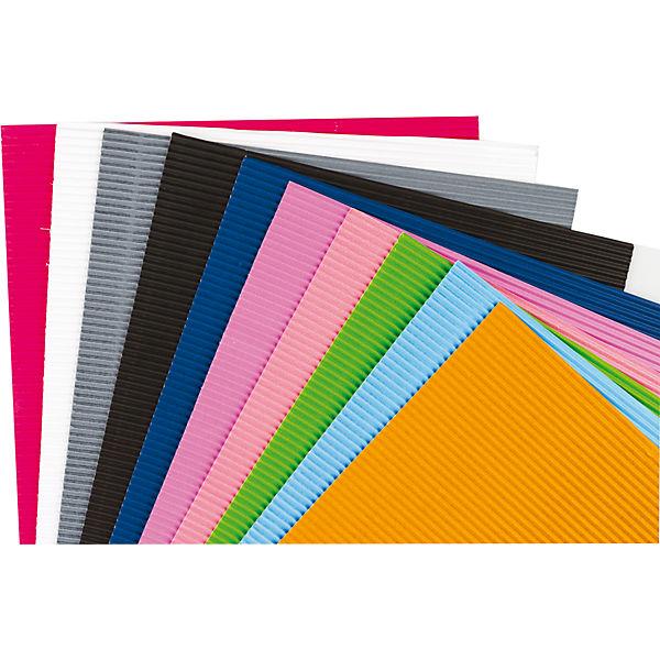 Centrum Набор декоративной гофрированной бумаги для детского творчества, формат А4, 10 цветов, 160 г.