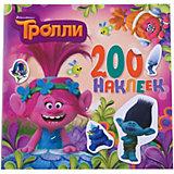 Альбом с наклейками, цвет розовый, Тролли